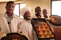 The bakery at Tsadkane provides nutritious food.