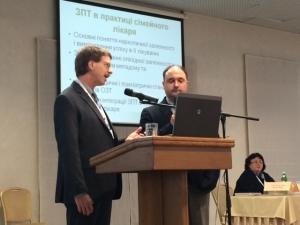 Dr. Joseph Merrill speaks at the Ukrainian National Conference.