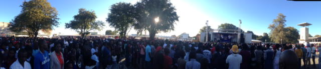 The Dogg performs to a crowd in Katima Mulilo, Namibia.