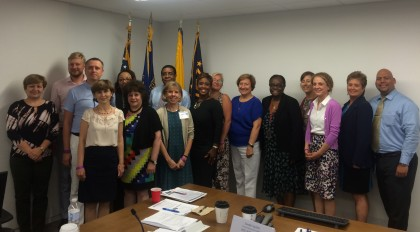 Study tour participants visit HRSA offices in Washington, D.C., to hear more about HRSA's mission and activities.