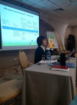 I-TECH's Irina Yuryeva presents the ClASS model to the workshop.