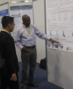 Yusuf Babaye, MBA, MSc, presents his poster at IAS 2019.