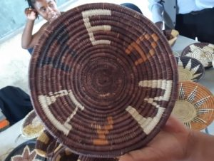 A basket woven by one of the participants at the September 9-13 craft-skills training session.